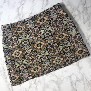 Zara Size Small Tapestry Jacquard mini skirt